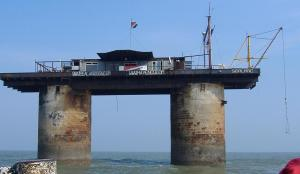 the Sealand platform, a micronation in the North sea