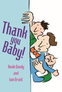 Book cover showing two men and a Baby