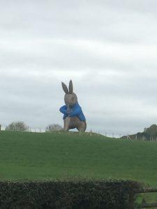 Giant Peter Rabbit statue