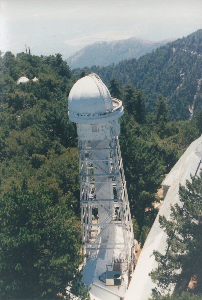 60-foot Solar Tower (left) next to Snow Solar Telescope (right). Credit: Gregory Pijanowski