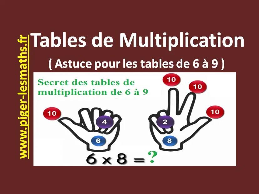 table de multiplication et astuces pour