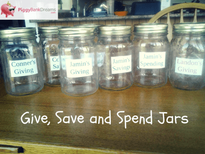 Give, Save & Spend Jars