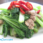 Ground Pork Yu Choy Stir-Fry