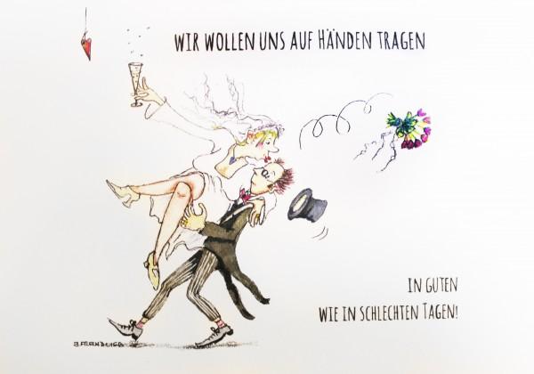 Originelle Hochzeitskarte Mit Tandem