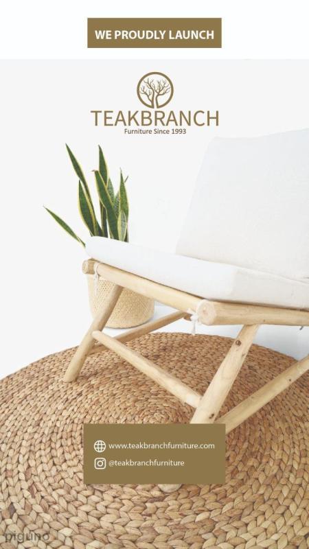 Launching Furniture 2021 Teak Branch Furniture