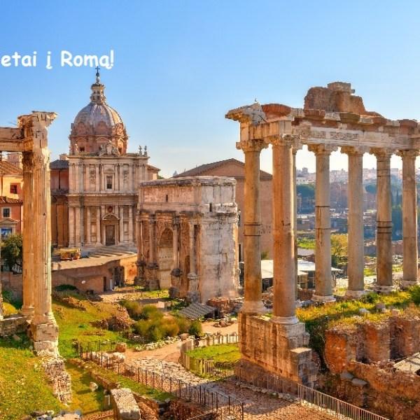 """Oho! Tiesioginiai """"RyanAir"""" skrydžiai rugsėjo mėnesį iš Vilniaus į Romą, Italija – tik 55 EUR į abi puses!"""