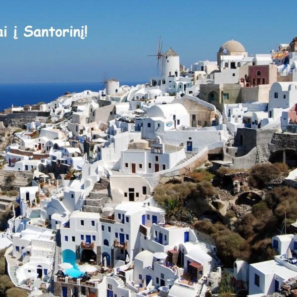 Hitas! Pigūs tiesioginiai skrydžiai iš Vilniaus į nuostabųjį Santorinį - vos 60 EUR į abi puses!