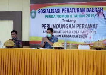 Sosialisasi Perda, Ketua Komisi II DPRD Parepare Jelaskan Tujuan Lahirnya Perda Perlindungan Perawat