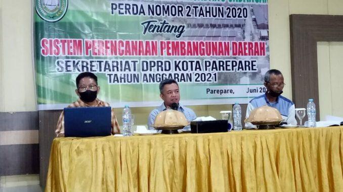 Ketua Bapemperda DPRD Parepare Yasser Latief Libatkan Bappeda Sosialisasikan Perda Perencanaan Pembangunan Daerah