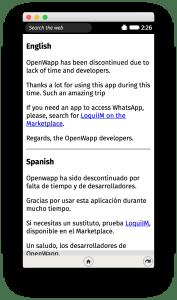 OpenWapp Dead