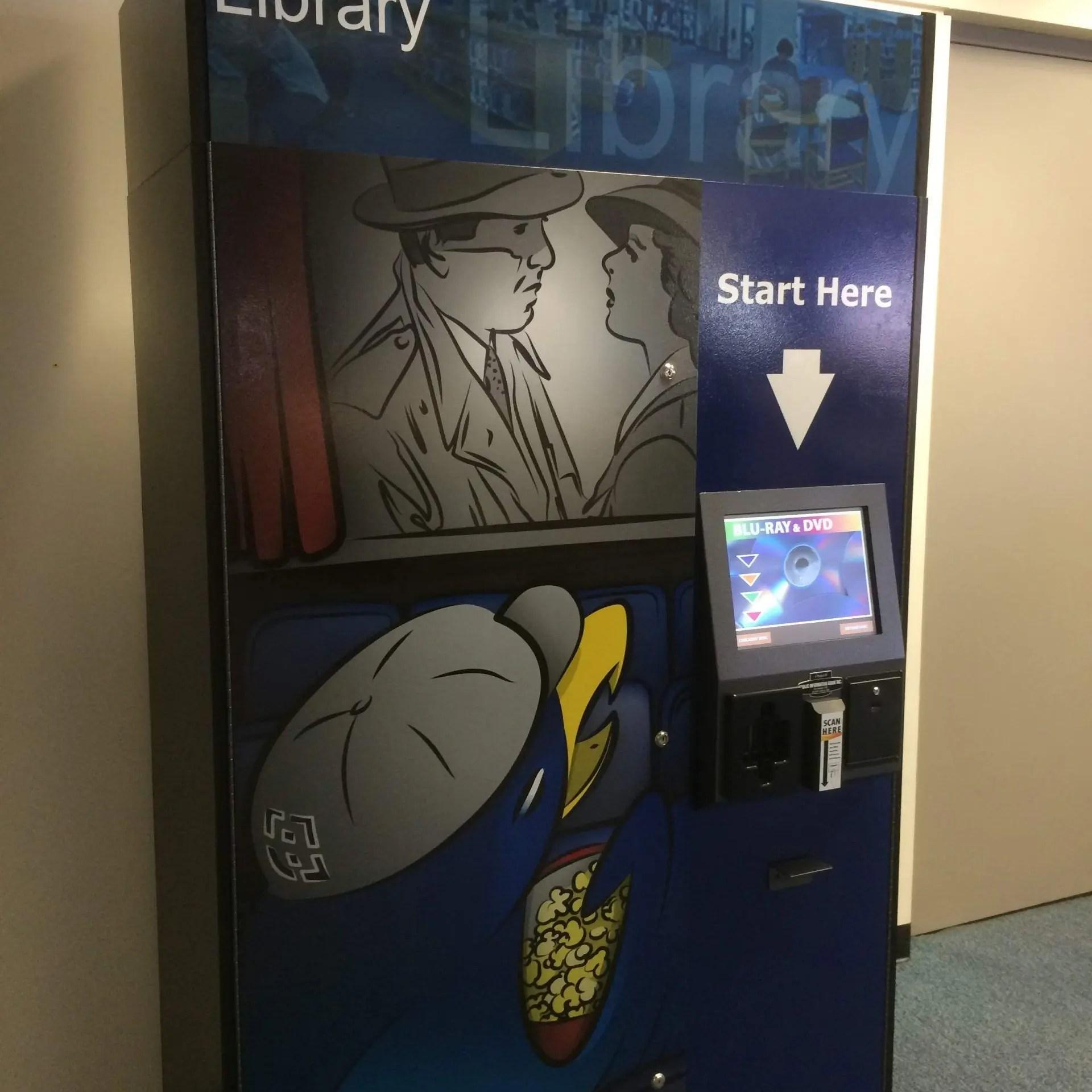 movie rental kiosk for libaries