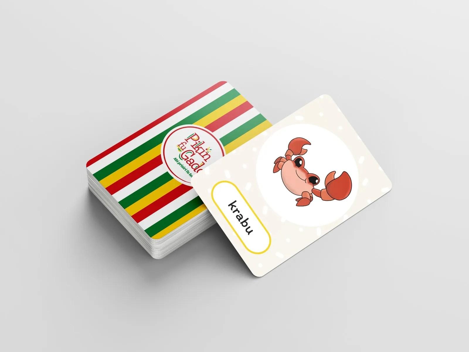 Pak speelkaarten met de afbeelding van een krab