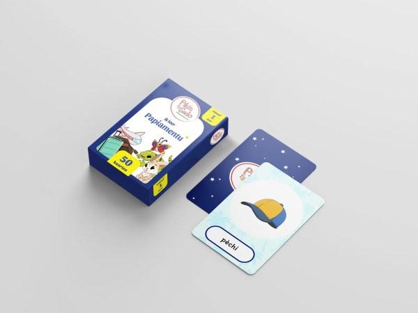 Speelkaarten voor kinderen om Papiamentu te leren