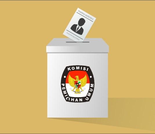 Ilustrasi Pemilu pilkada dan Kotak suara KPU