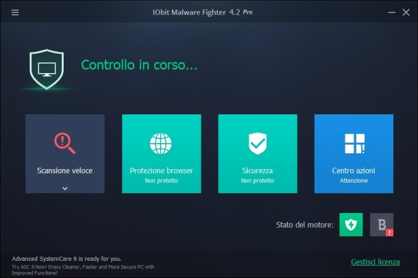 IObit Malware Fighter Pro v4.5.0.3457 - Ita