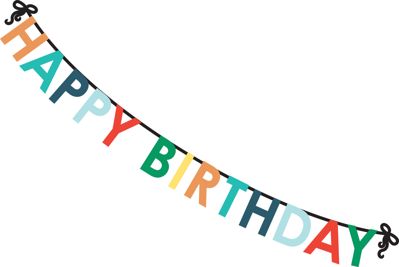 Happy Birthday Banner Clipart Large Size Png Image Pikpng