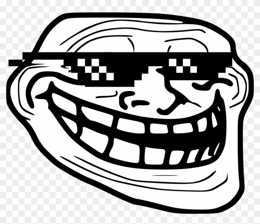 Deal With It Pixel Sunglasses Free Png Image Troll Face Png