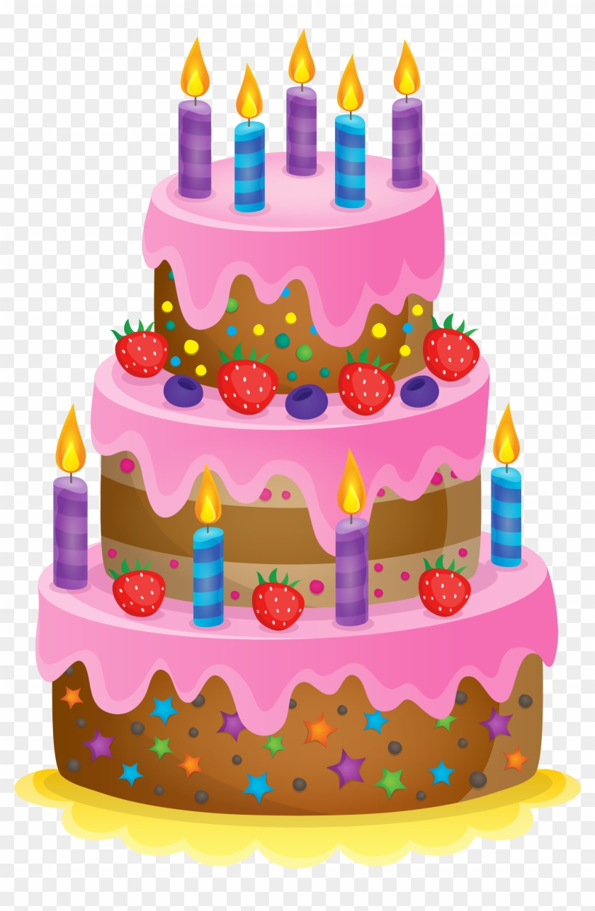 Birthday Cake Clipart At Getdrawings Transparent Background Birthday Cake Clipart Png Download 117114 Pikpng
