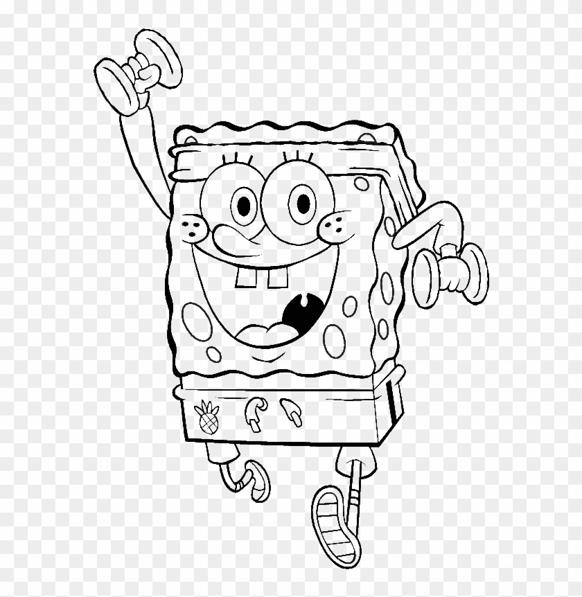 Free Coloring Pages Spongebob Coloring Pages Weight Lifting Clipart 1983838 Pikpng