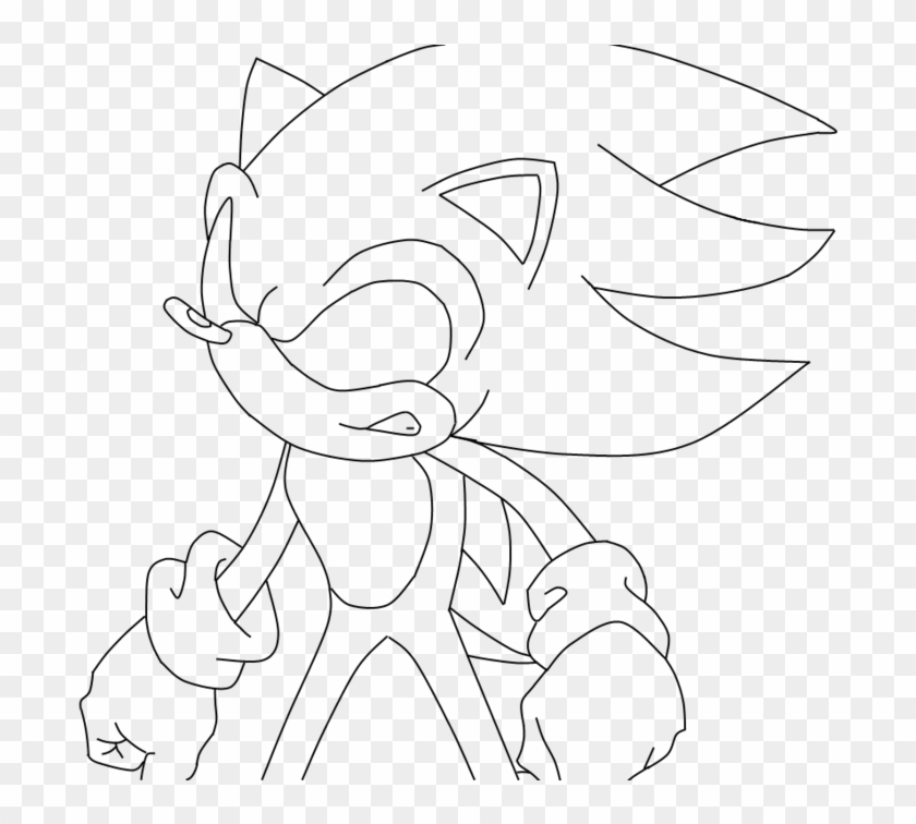 Super Sonic Coloring Pages Dark Sonic Colouring Clipart 2064339 Pikpng