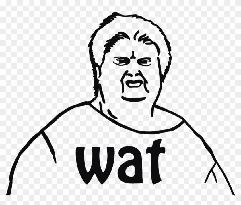 Ugly Meme Face Drawing Png Download Wat Meme Transparent