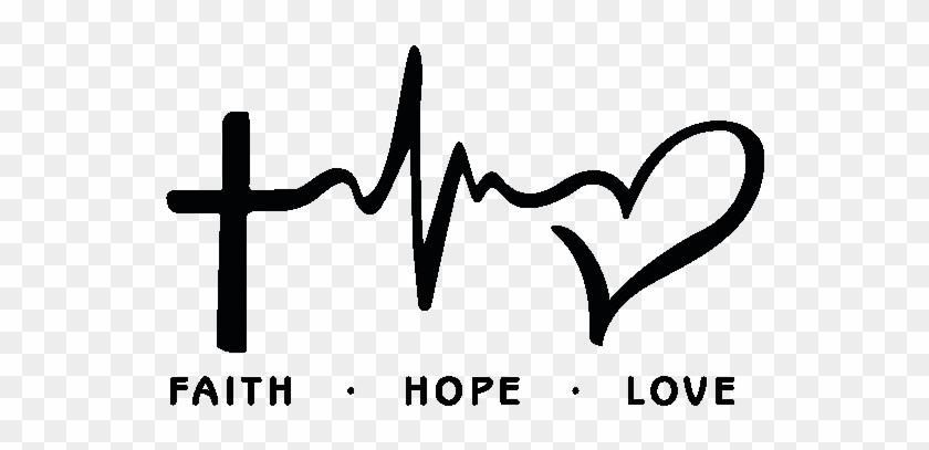 "Download Love"" Adesivo De Parede ""faith, Hope, - Faith Hope Love ..."