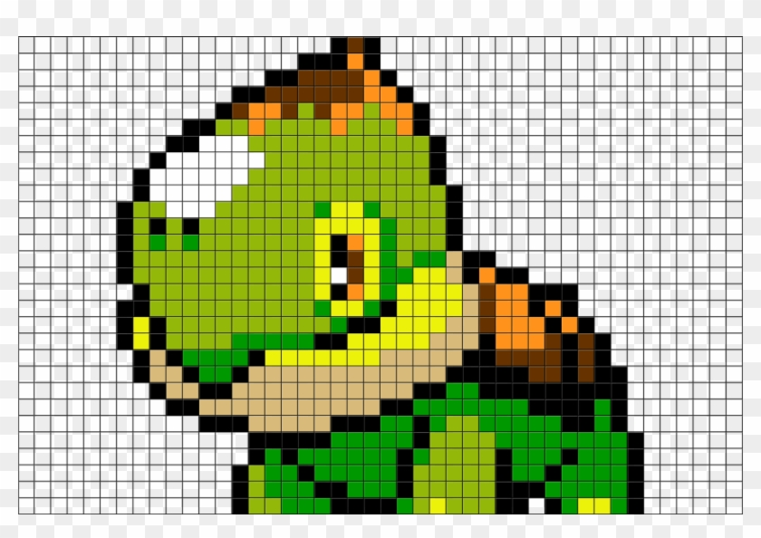 2 Download The Template Pokemon Pixel Art Turtwig Clipart 3488605 Pikpng