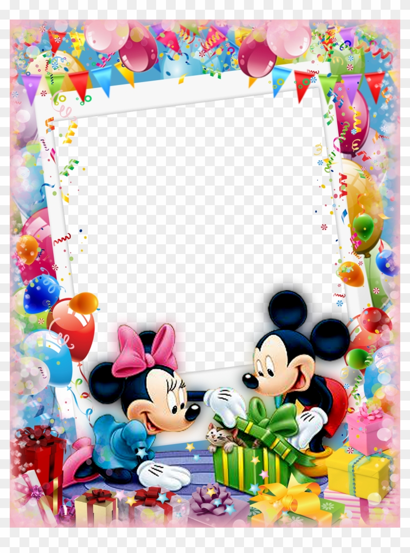 Mickey Mouse And Friends Mickey Minnie Mouse Disney Border Birthday Photo Frames Clipart 4119247 Pikpng