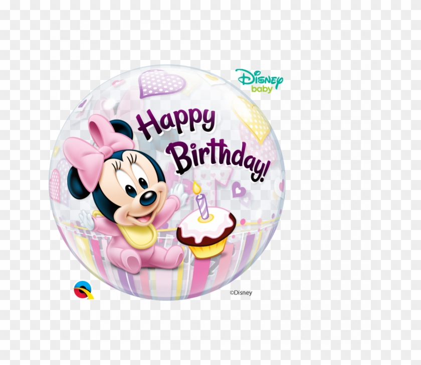 Happy 1st Birthday Girl Minnie Mouse Png Download Baby Minnie Mouse Balloon Clipart 4822278 Pikpng