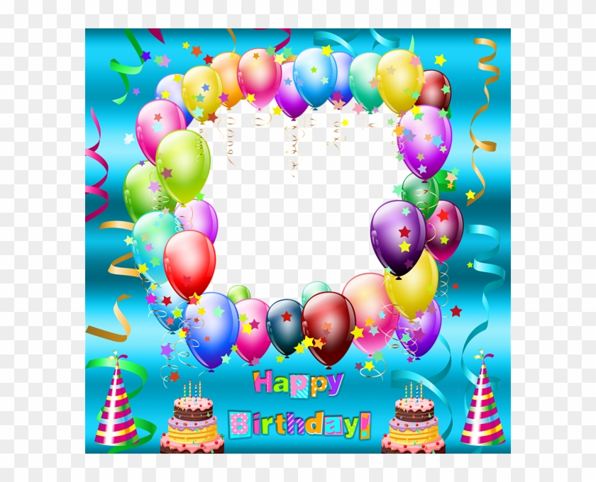 Happy Birthday Transparent Blue Frame Gallery Png Transparent Happy Birthday Frame Png Transparent Clipart 744823 Pikpng