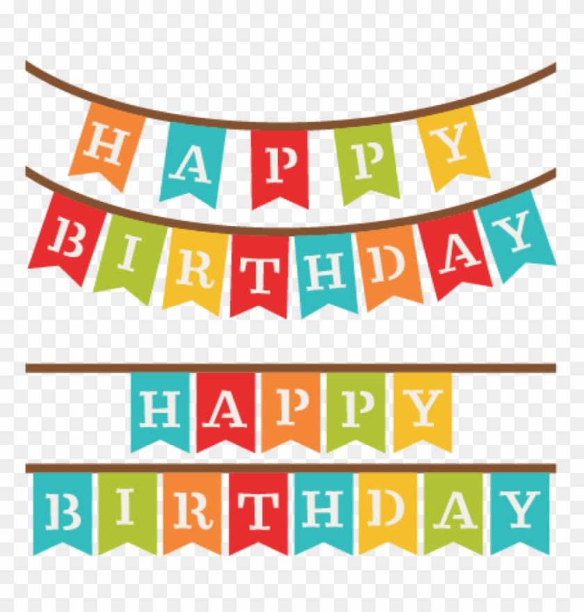Happy Birthday Banner Clip Art Birthday Banner Clipart Happy Birthday Banner Svg Png Download 800141 Pikpng