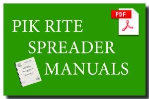 Spreader Manuals