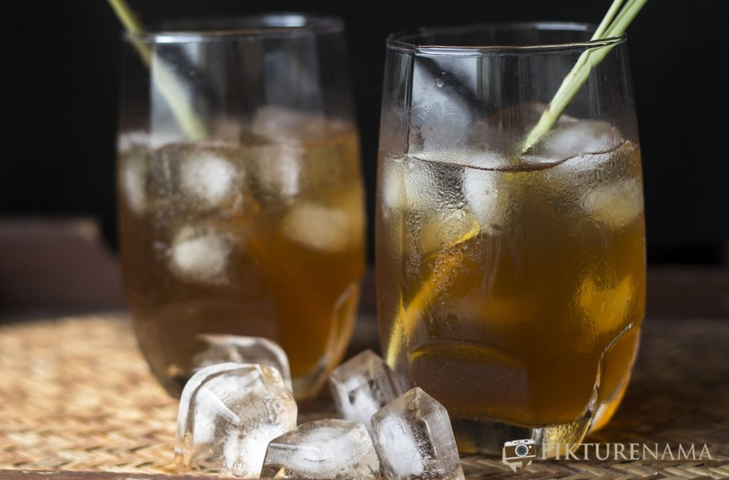 Iced tea with lemongrass and ginger by pikturenama