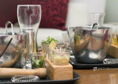 Afraa Lounge Kolkata Ingredients for making cocktail