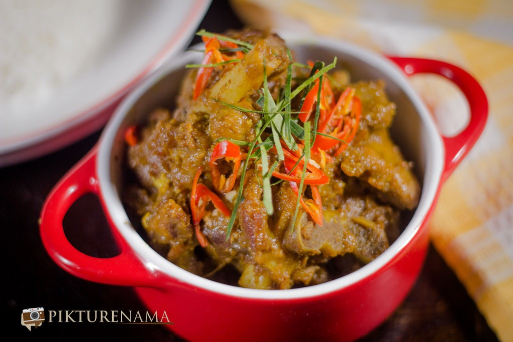 Rendang Curry with Mutton finished