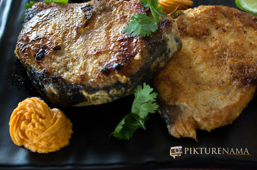 Grilled fish with red capsicum butter by pikturenama