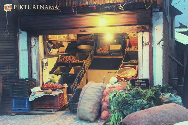 The vegetable shop at Pahalgam town