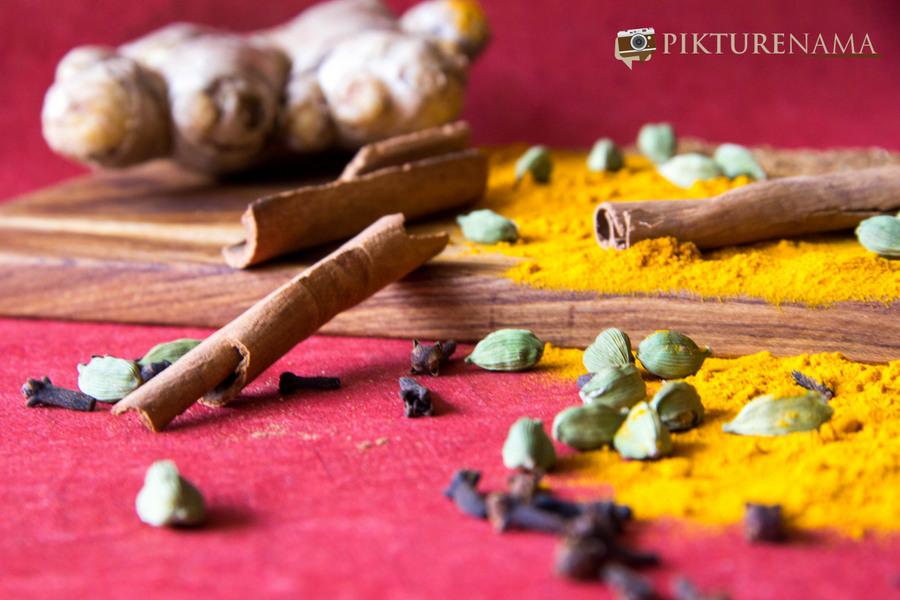 Basanti Pulao raw ingredients - 3