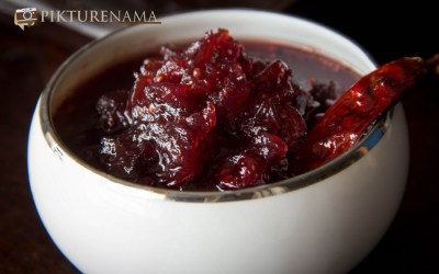 Cranberry chutney with Panchphoron