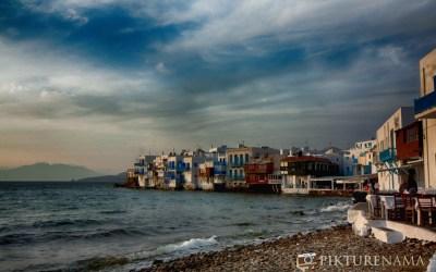 Little Venice in Mykonos Island Greece