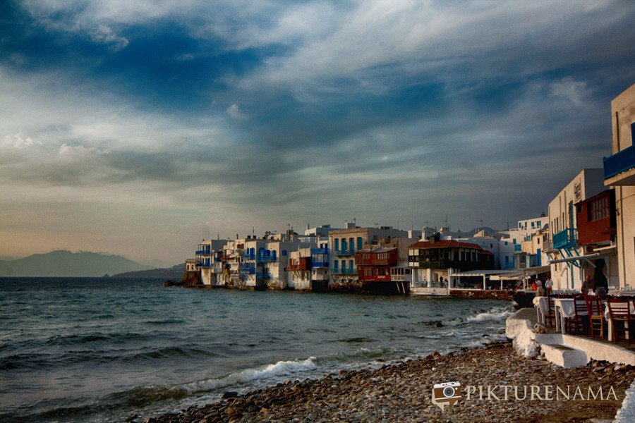 Little Venice in Mykonos Island Greece