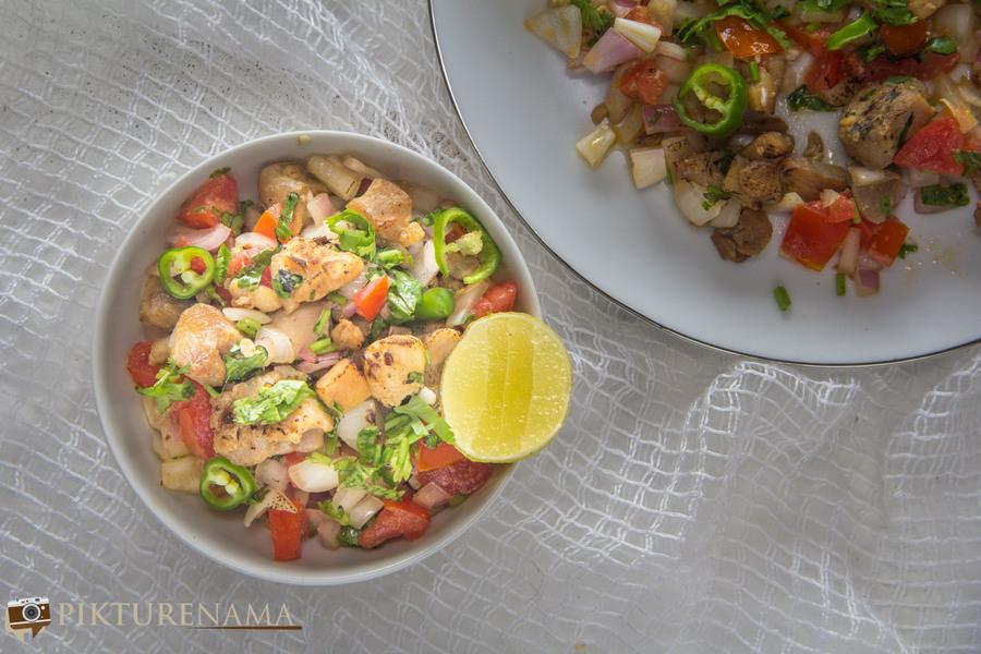 How to make Chicken Sadeko - 4