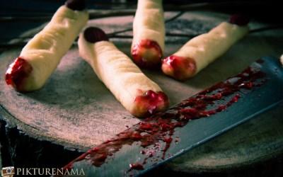 Halloween Witch Finger Cookies- Halloween couldn't get creepier