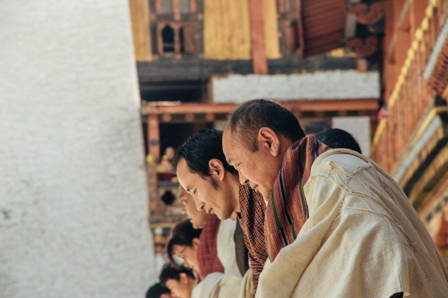 Inside Punakha Dzong with the training of Khadar - 4