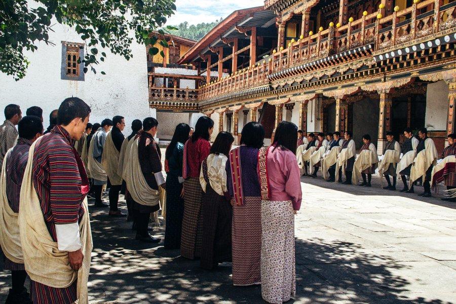Inside Punakha Dzong Bhutan - 23