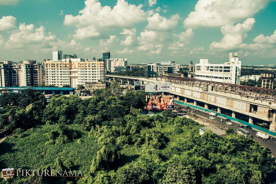 Vivanta Kolkata EM Bypass view from top