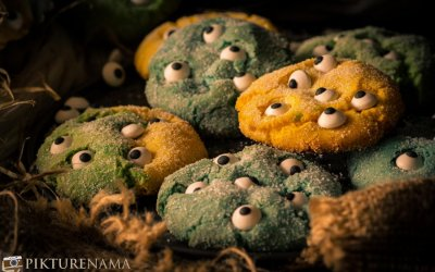 Halloween Monster Cookies I Cake Mix Cookies