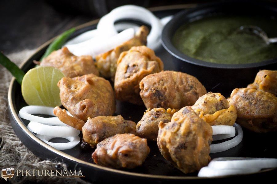 Spicy Mutton Pakoda from Pakodas by Sangeeta Khanna