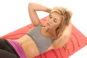 Pilates curl up