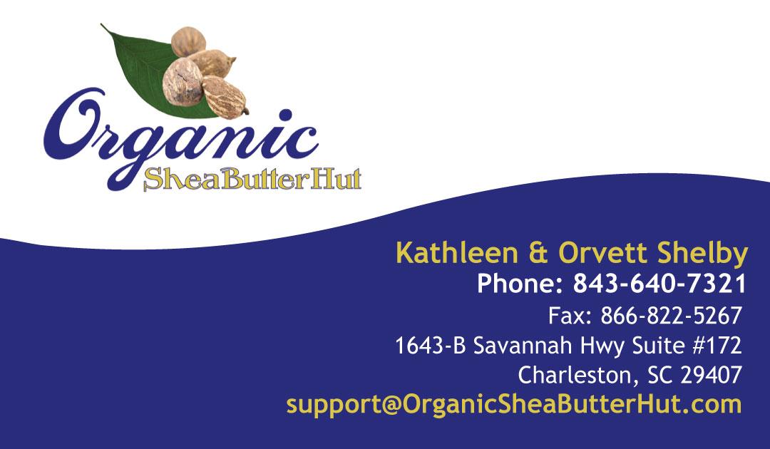 Organic Shea Butter Hut Business Card Design | Pilcher Creative Agency